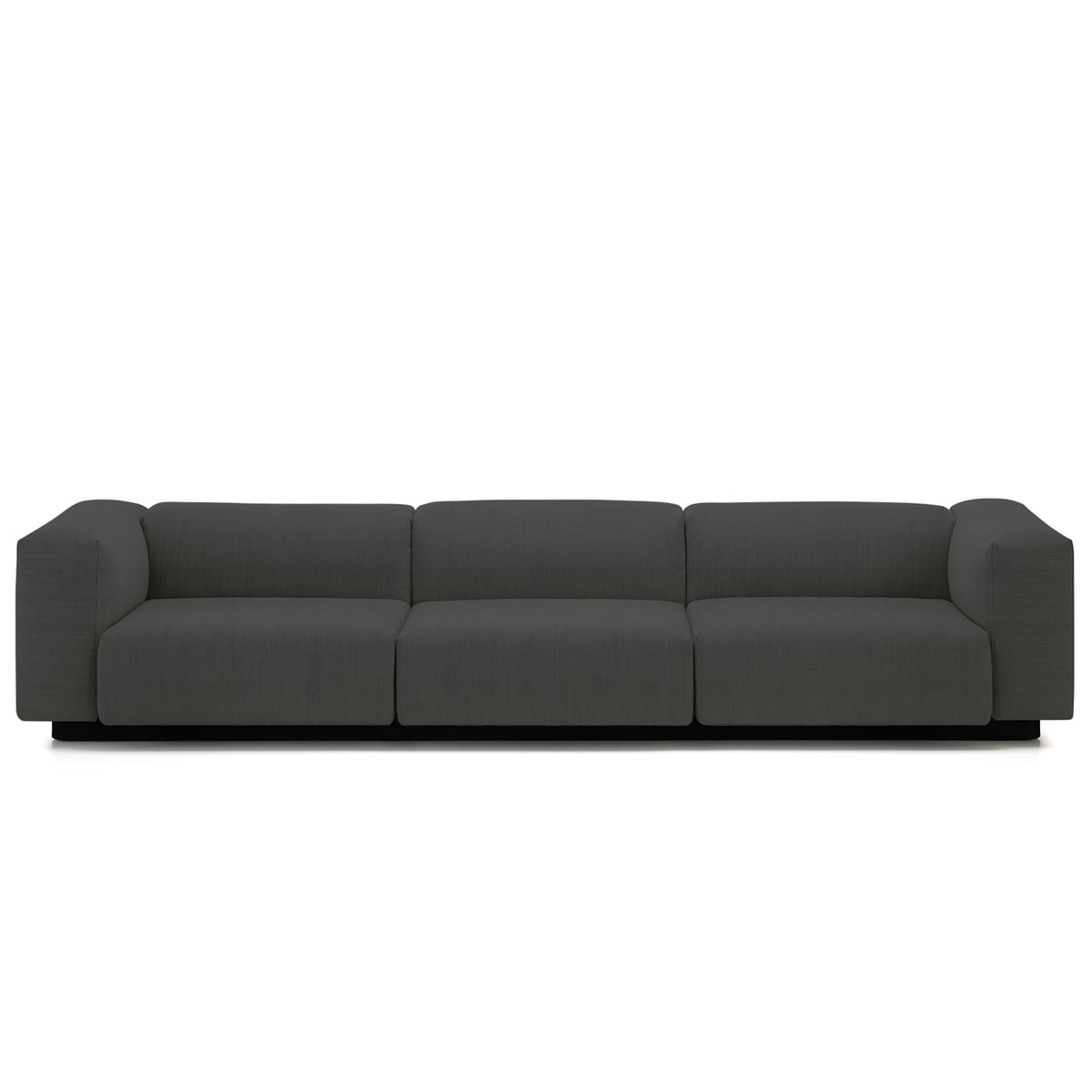 Soft Modular 3 Seater Sofa From Vitra In Anthracite (Laser 03)