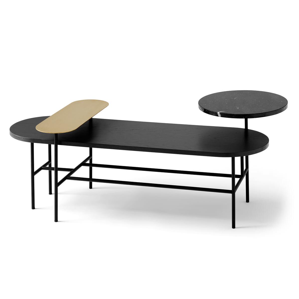 Industriel Table Basse Palette &tradition - palette table jh7, black