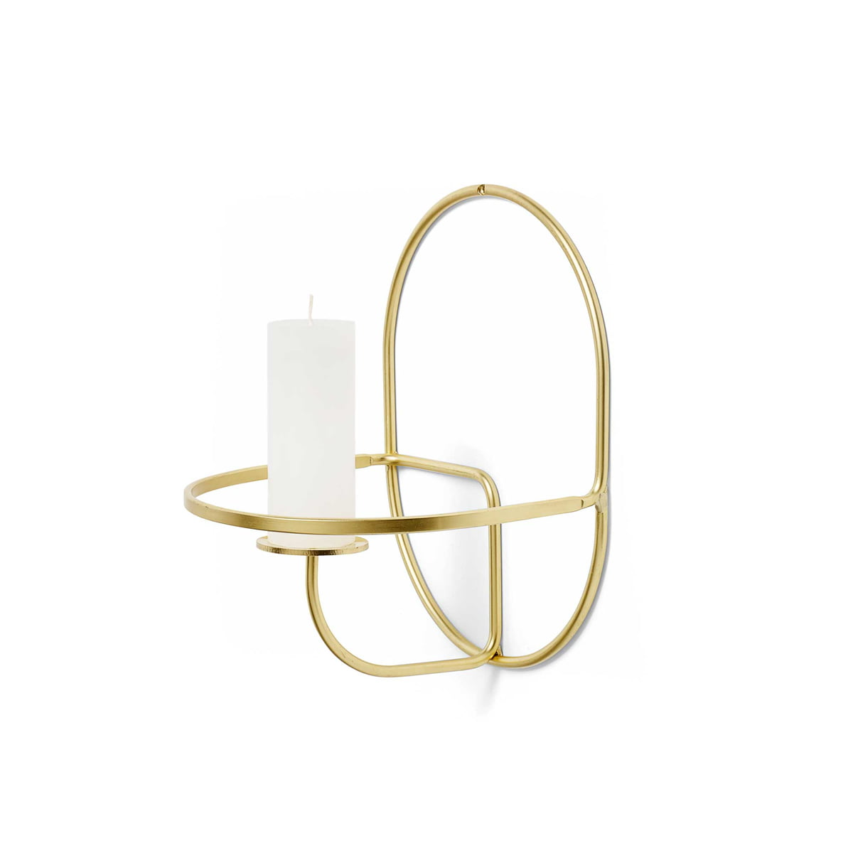 buy the lup wall candleholder brass from hay. Black Bedroom Furniture Sets. Home Design Ideas