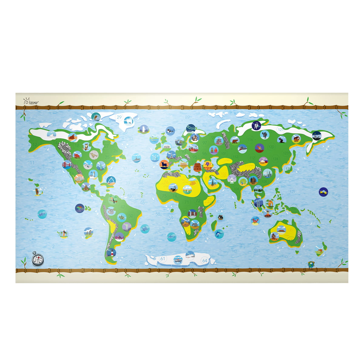 Children S World Map By Awesome Maps