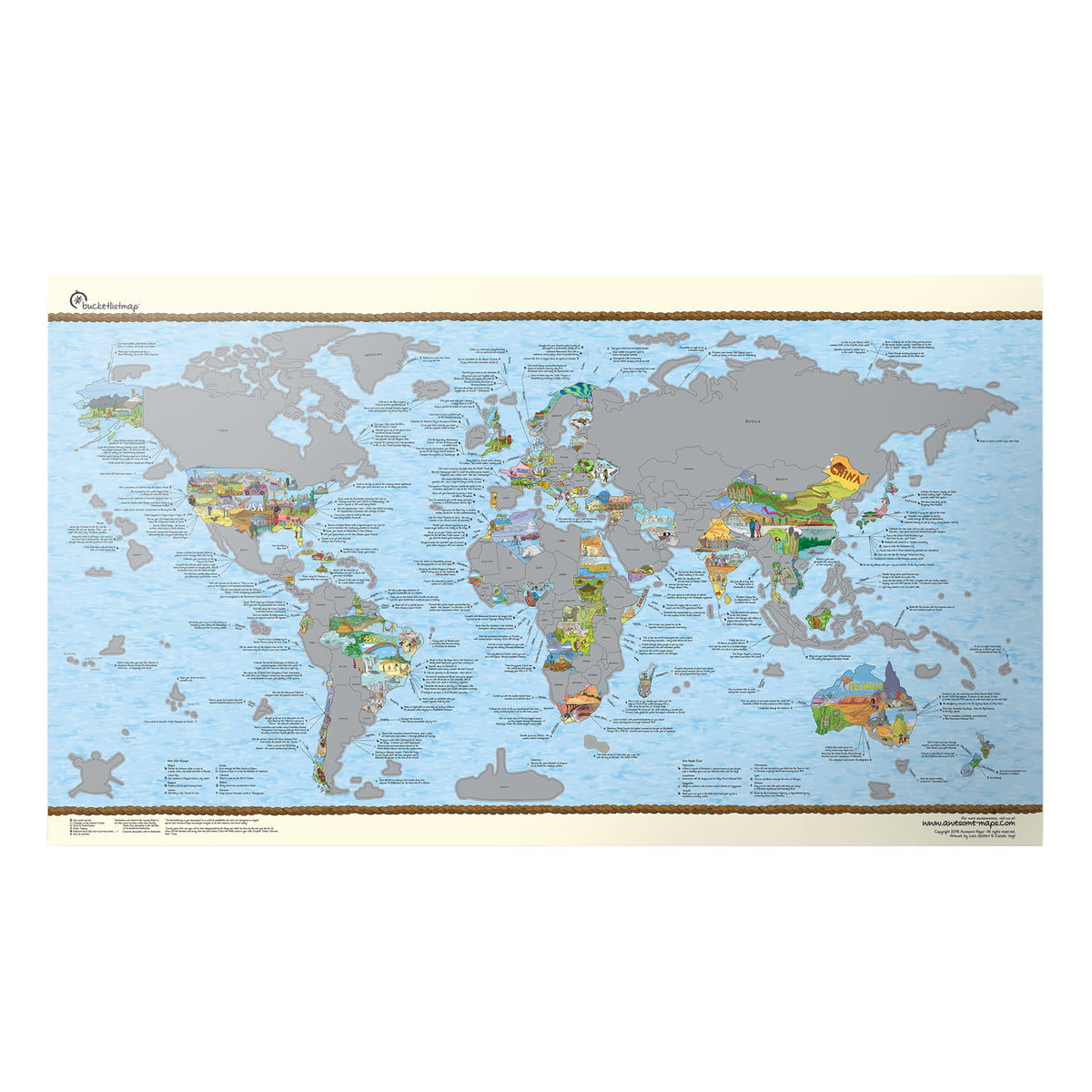 Buy the Travelmap by Awesome Maps online