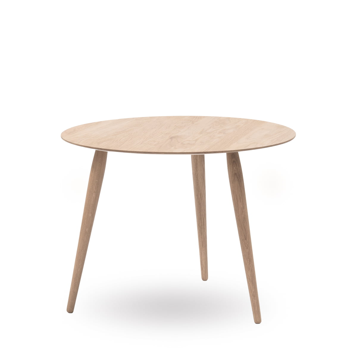 Bruunmunch   Playround Side Table Wood Ø 75 Cm, Oak Soaped