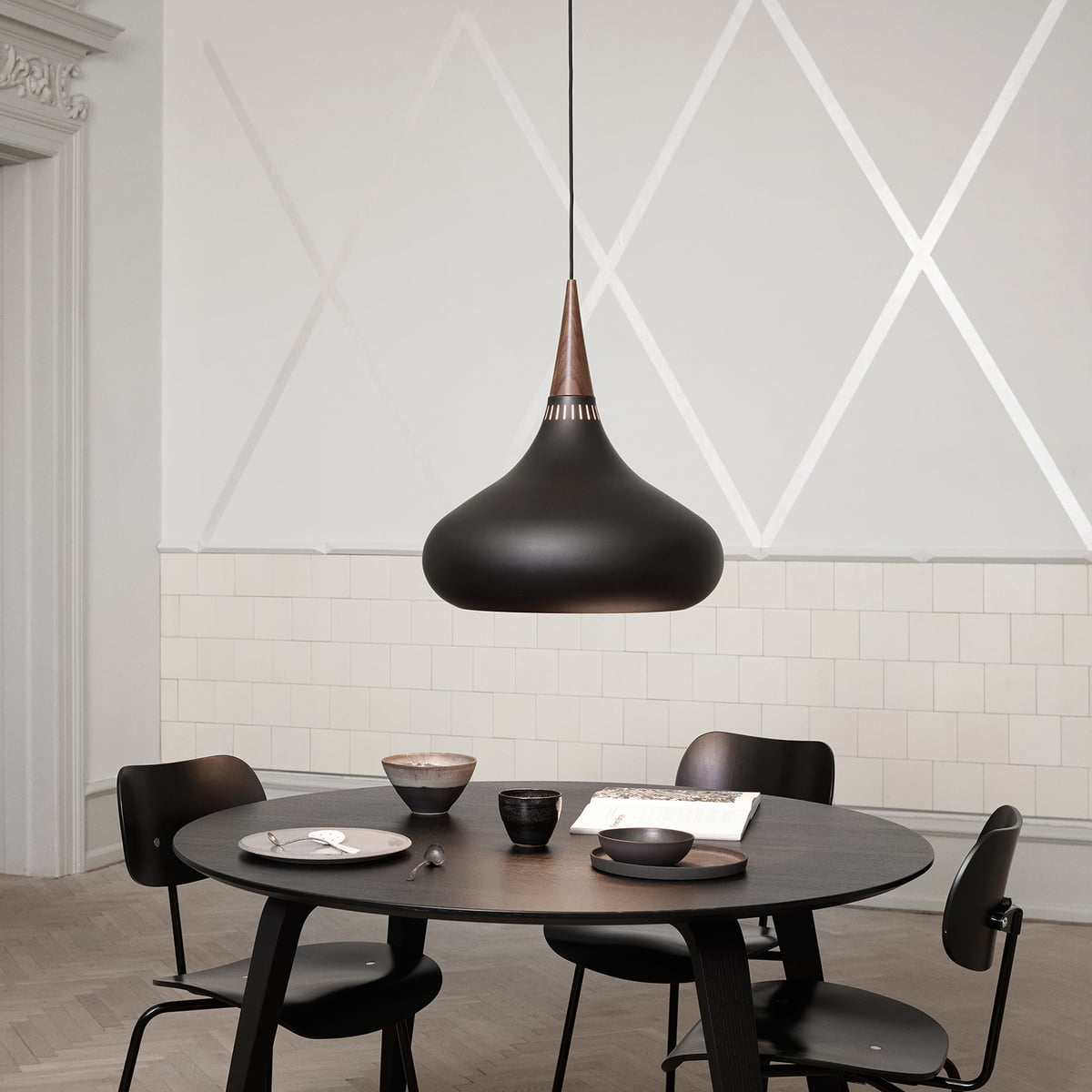 Hanging Lamp Over Dining Table: Orient Black Pendant Lamp By Lightyears
