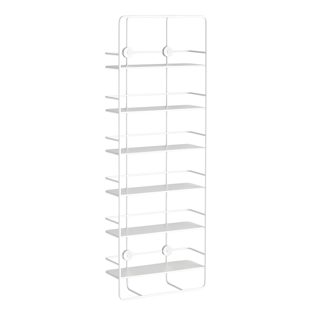 Coup Vertical Shelf by Woud in white
