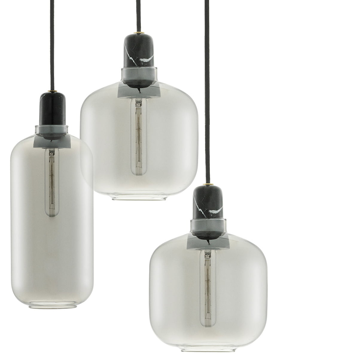 Normann Copenhagen - Replacement Glass for Amp Pendant Lamp small, smoke