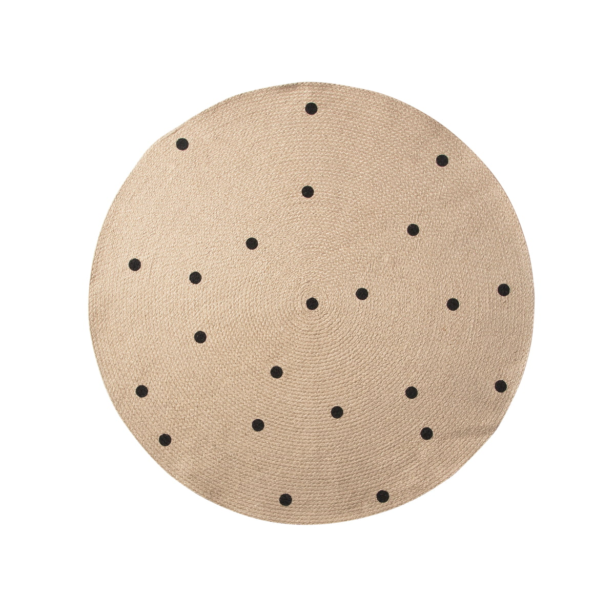 Black Dots Jute Rug by ferm Living in