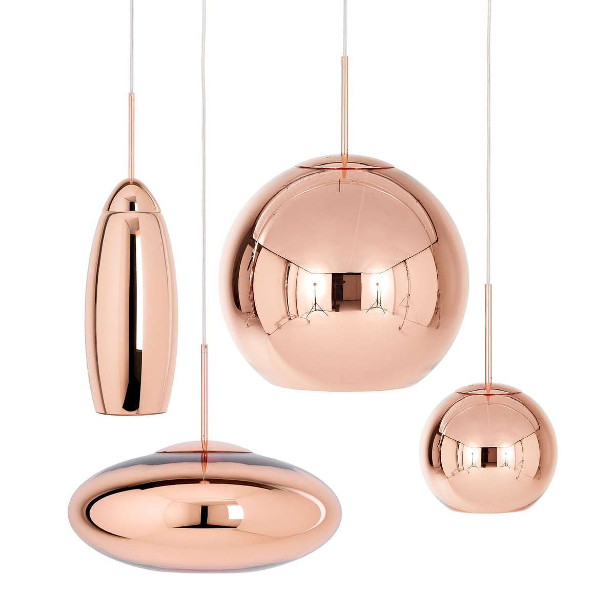 Copper tall pendant lamp by tom dixon the tom dixon copper pendant lamps aloadofball