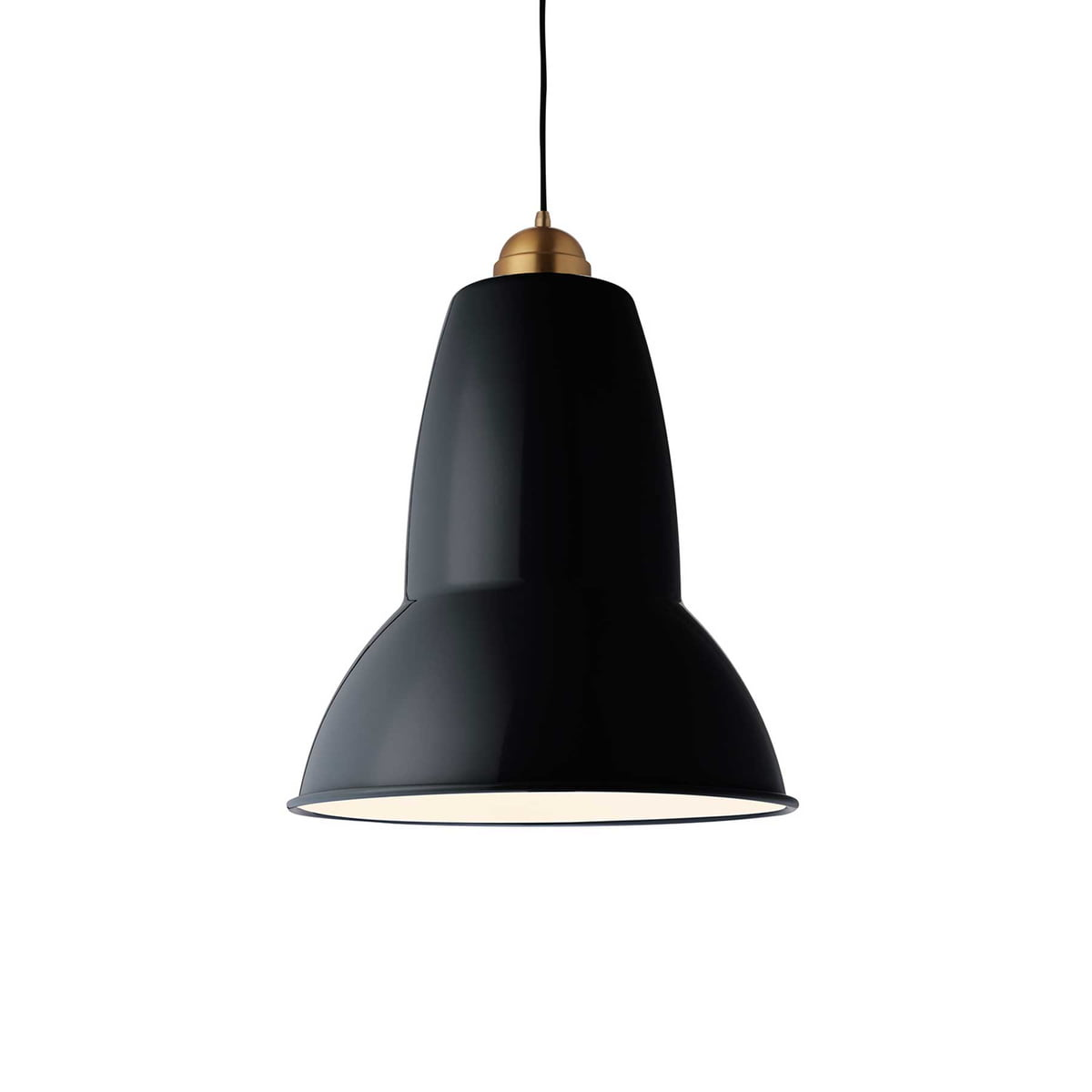 Original 1227 Giant Brass Pendant Lamp By Anglepoise