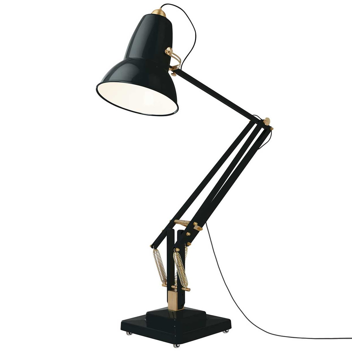 Original 1227 giant brass floor lamp by anglepoise original 1227 giant brass floor lamp cable black deep slate by anglepoise solutioingenieria Image collections