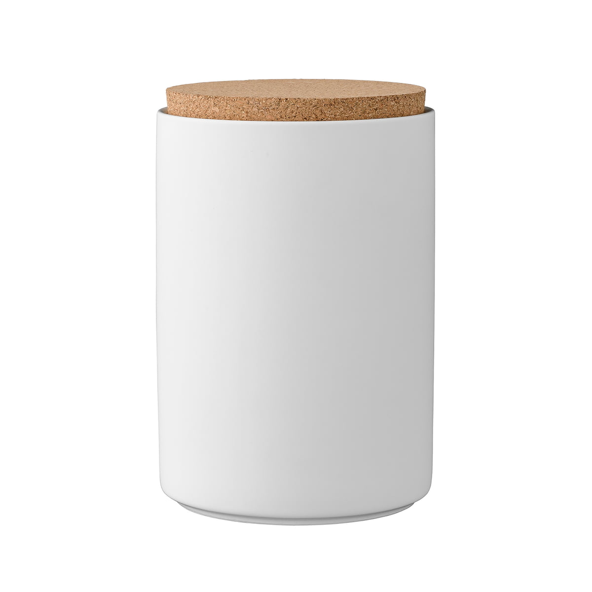 Storage Jar With Cork Lid H16 Cm By Bloomingville In White