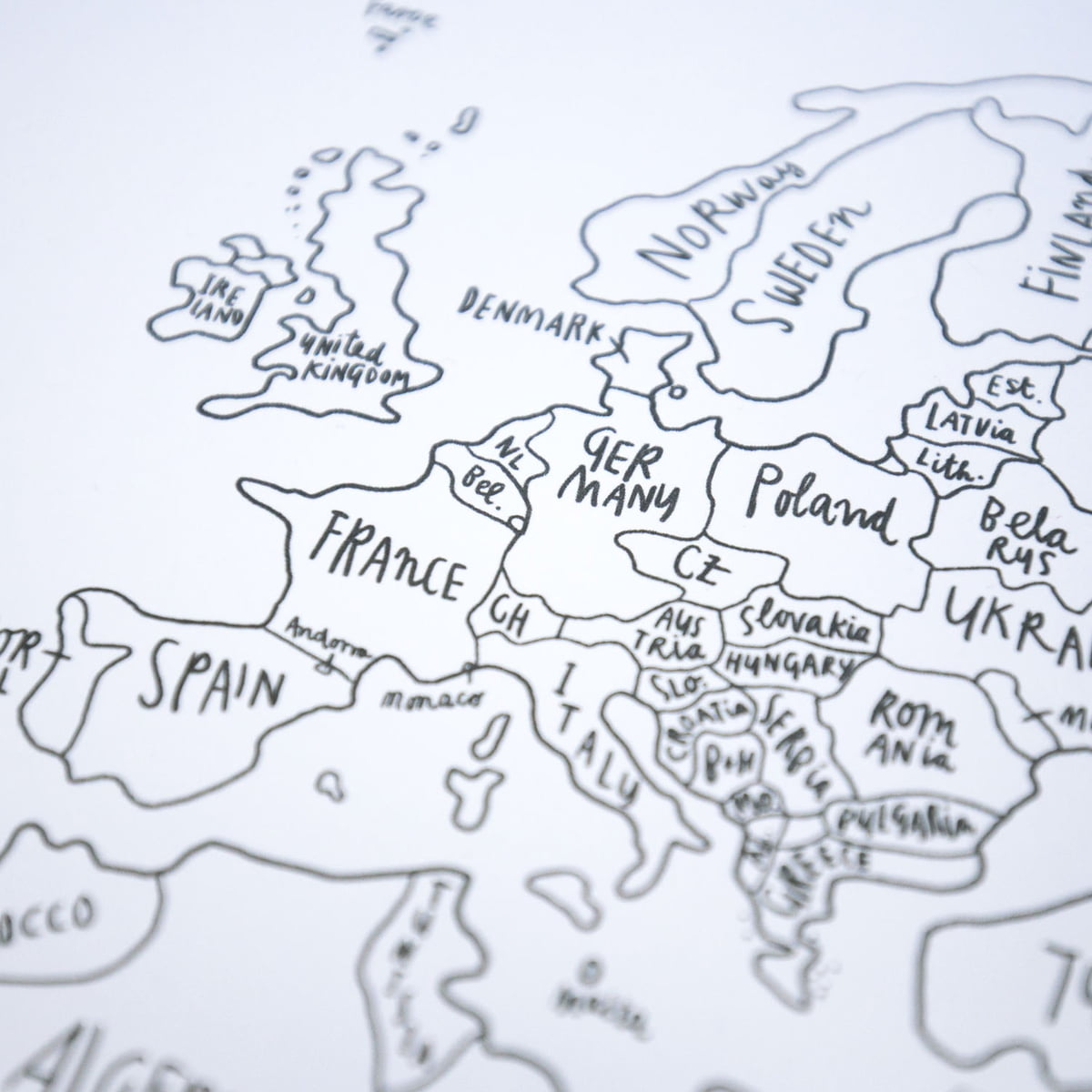 Sketch Map World Map By Awesome Maps | Shop