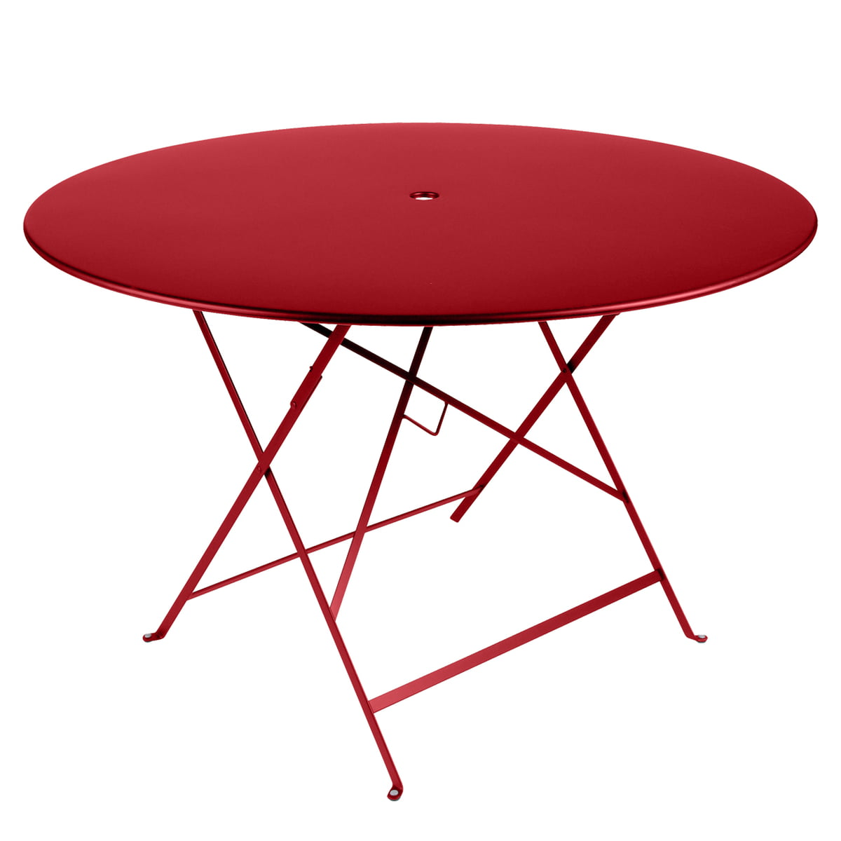 Bistro Folding Table Ø 117 Cm By Fermob In Poppy Red