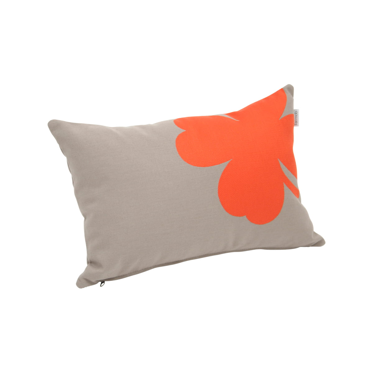 Trèfle Outdoor Cushion 44 X 30 Cm By Fermob In Stone Grey