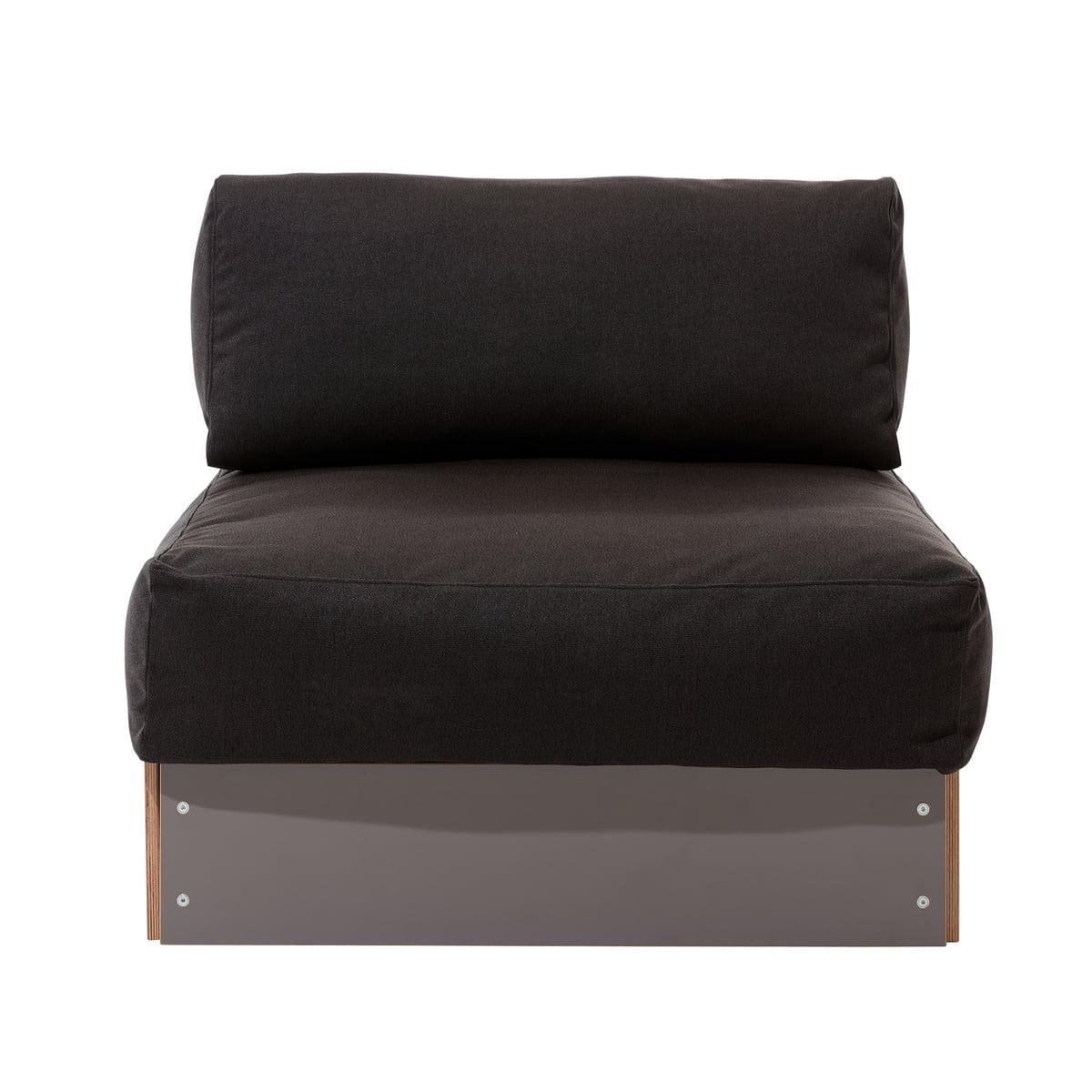 Sofa Bench Single Element By Müller Möbelwerkstätten CPL Anthracite / Dark  Grey (Bergamo No.
