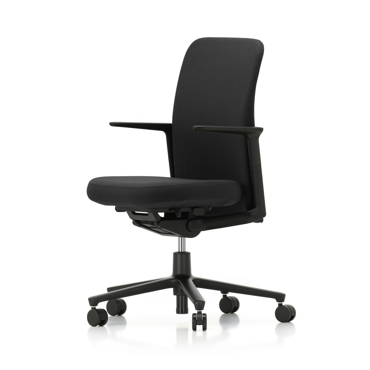 Pacific Chair By Vitra With Back In Black F30 Plano Nero Seat