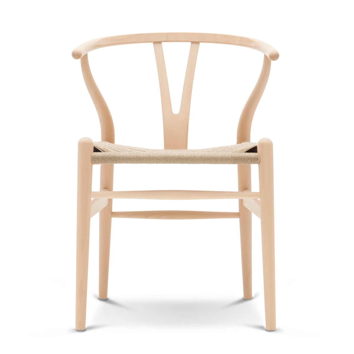 The CH24 Wishbone Chair By Carl Hansen In Soaped Beech / Natural Wicker