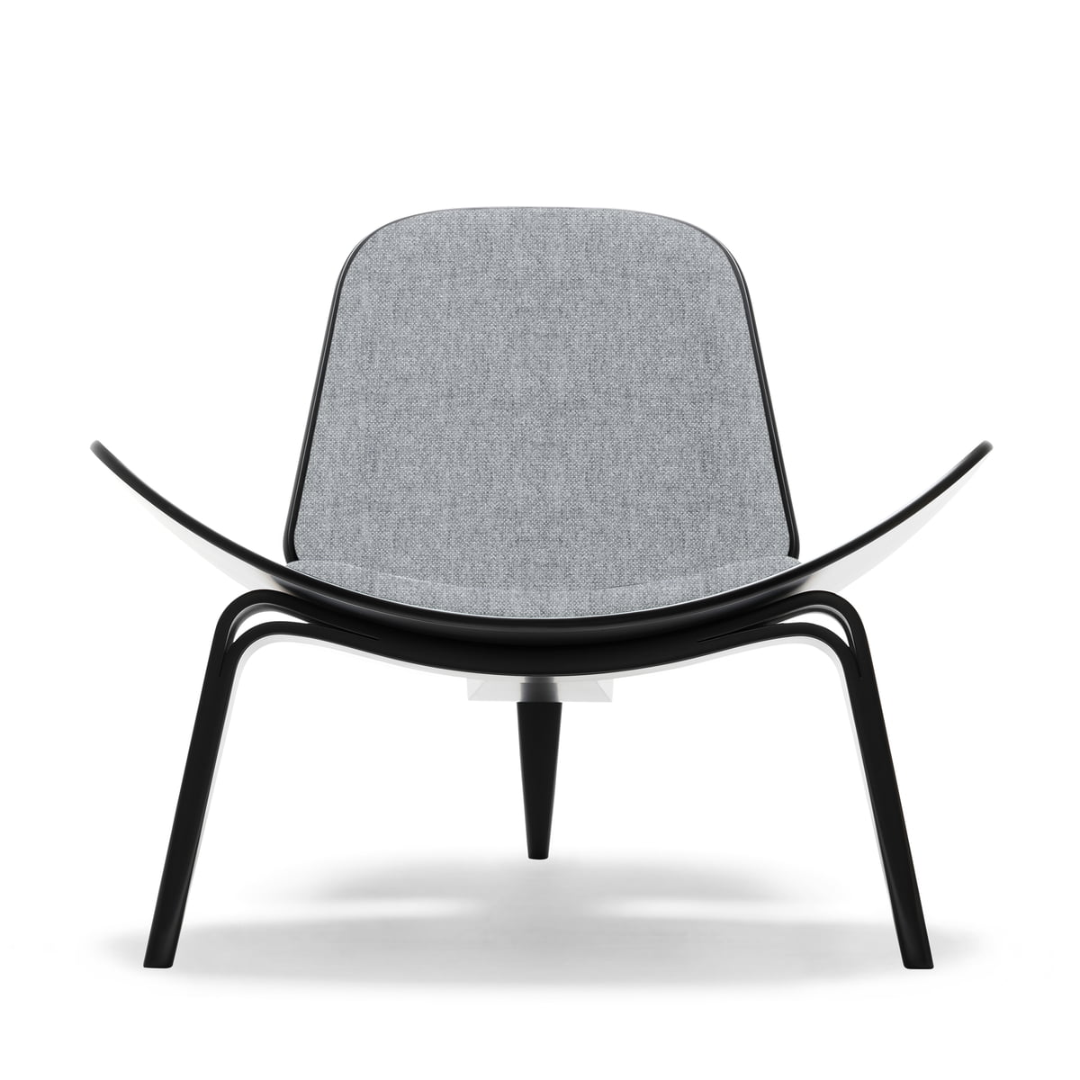 Carl Hansen   CH07 Shell Chair, Beech Black / Grey (Hallingdal 65, 130