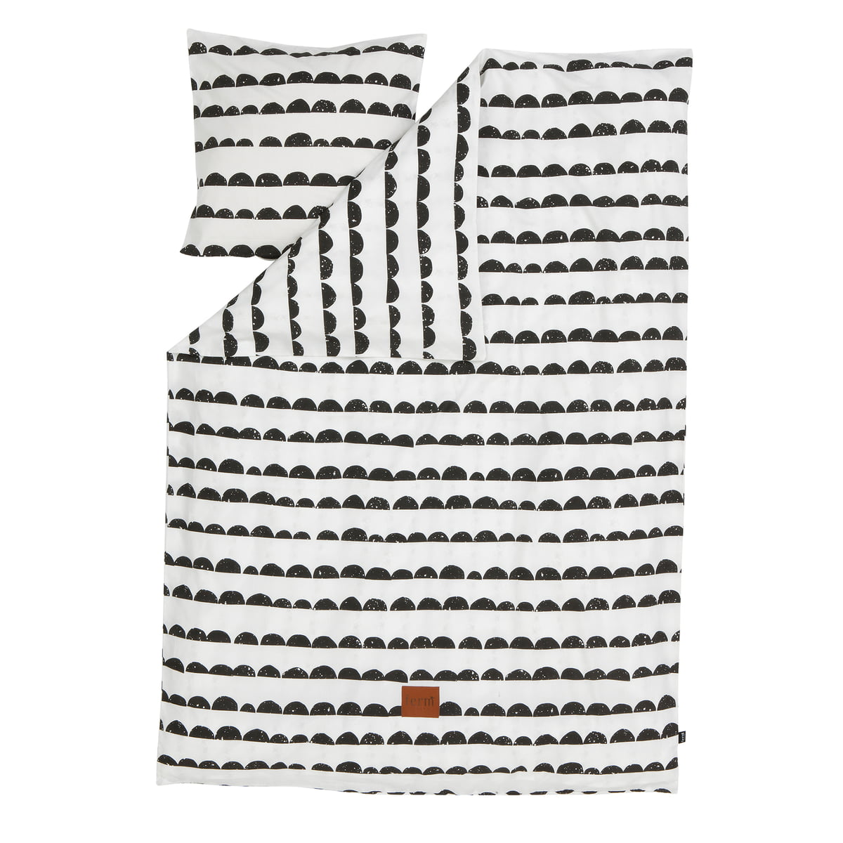 Half Moon Bed 140 X 200 Cm From Ferm Living In Black / White