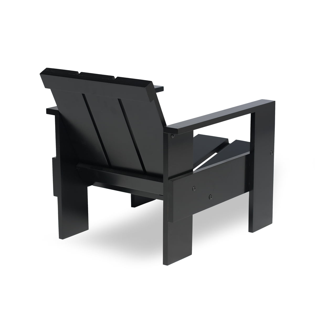 Wonderful Spectrum   Gerrit Rietveld Junior Crate Chair, Black