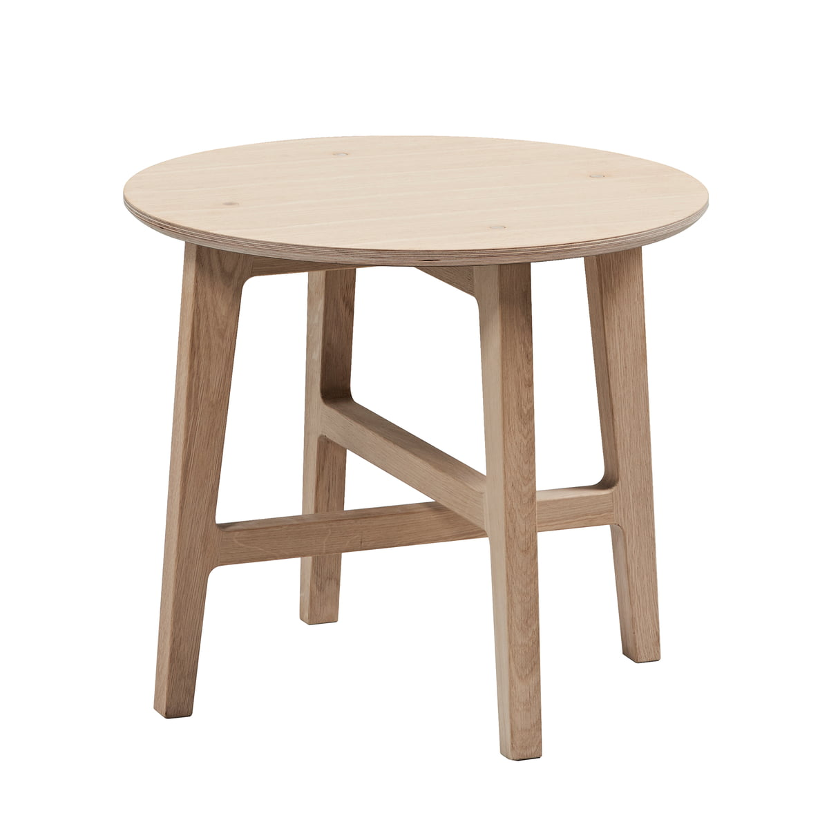 Nordic Side Table By Sack It In Stained Oak