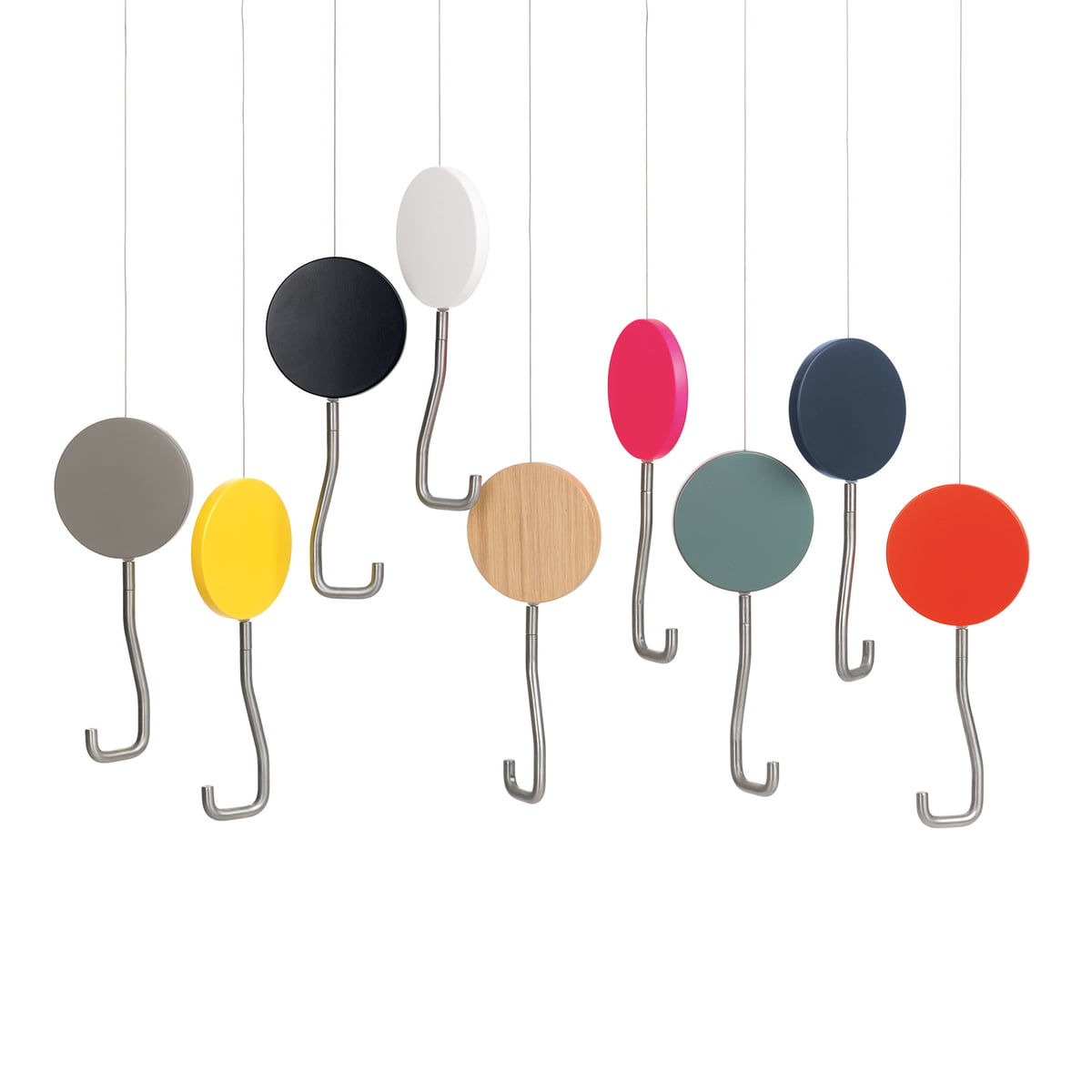 snap coat hooks by sch nbuch connox. Black Bedroom Furniture Sets. Home Design Ideas