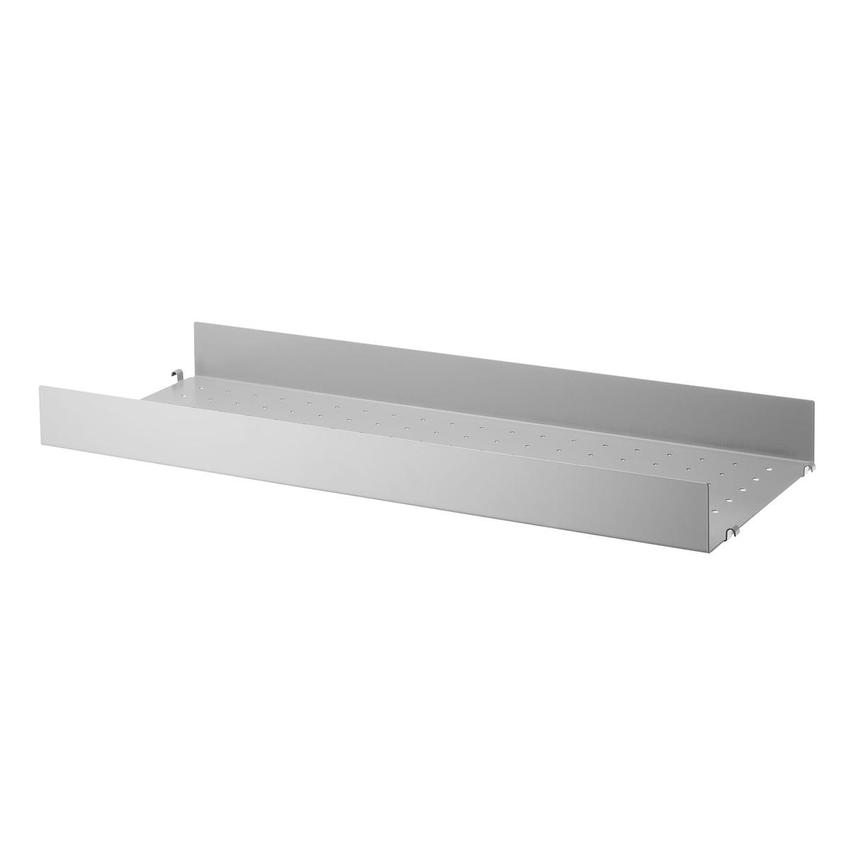 Regalboden Metall hoch Grau 78 x 30 cm String
