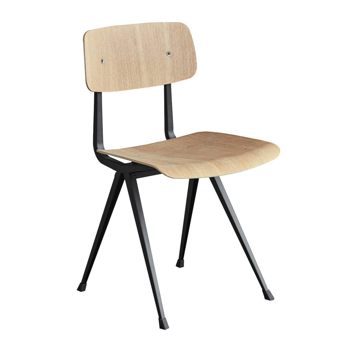 Result Chair By Hay In Beige And Matt Lacquered Oak