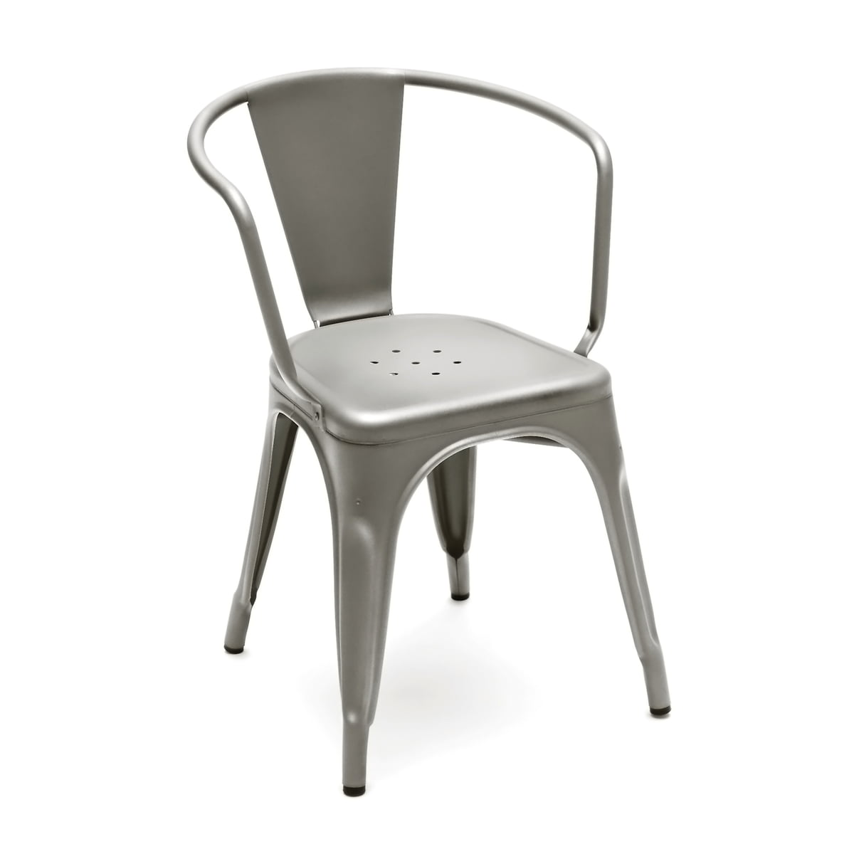 Tolix   A56 Armchair Outdoor, Satin Steel