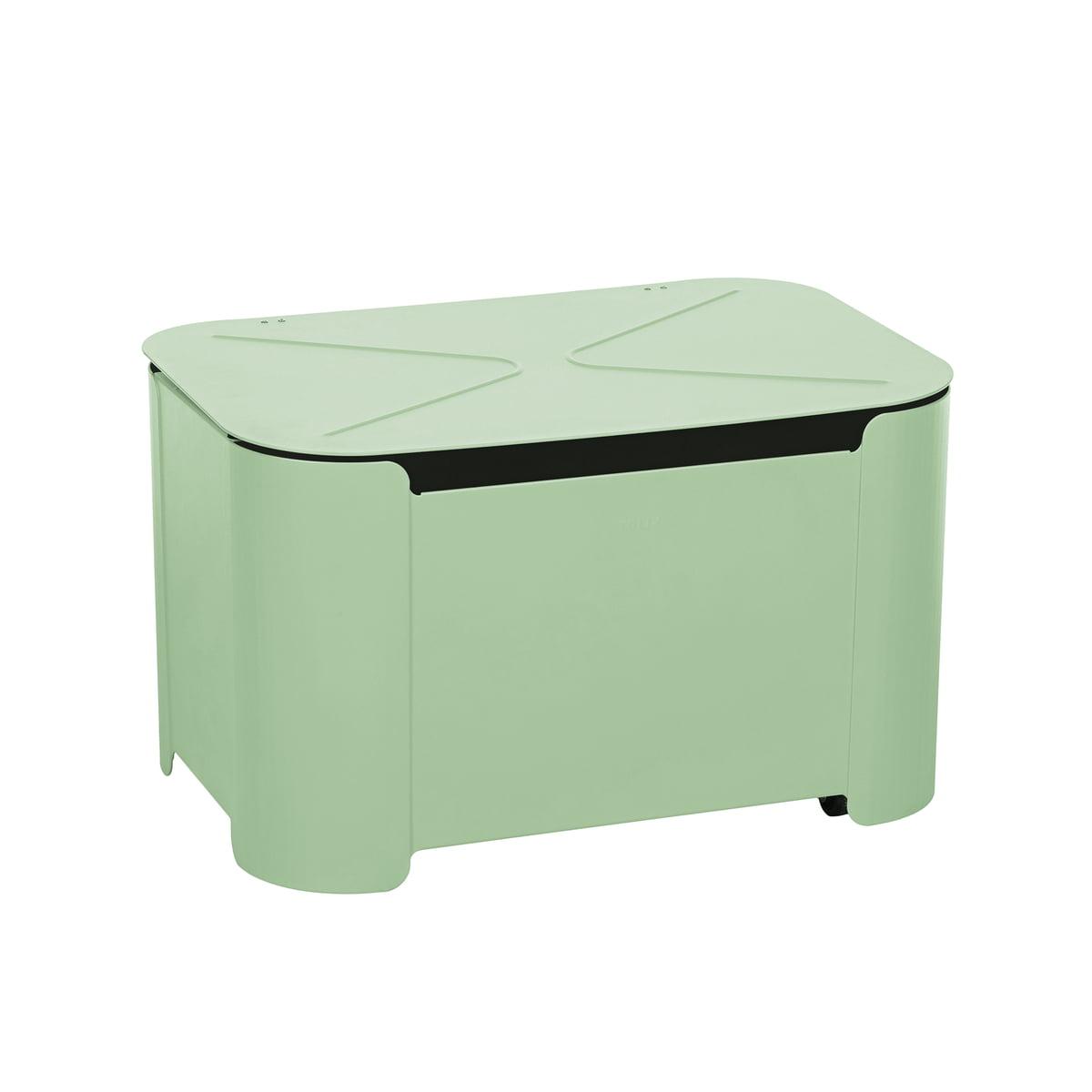 Outdoor Truhe.Tolix Storage Box Tortue Anise Green Matt