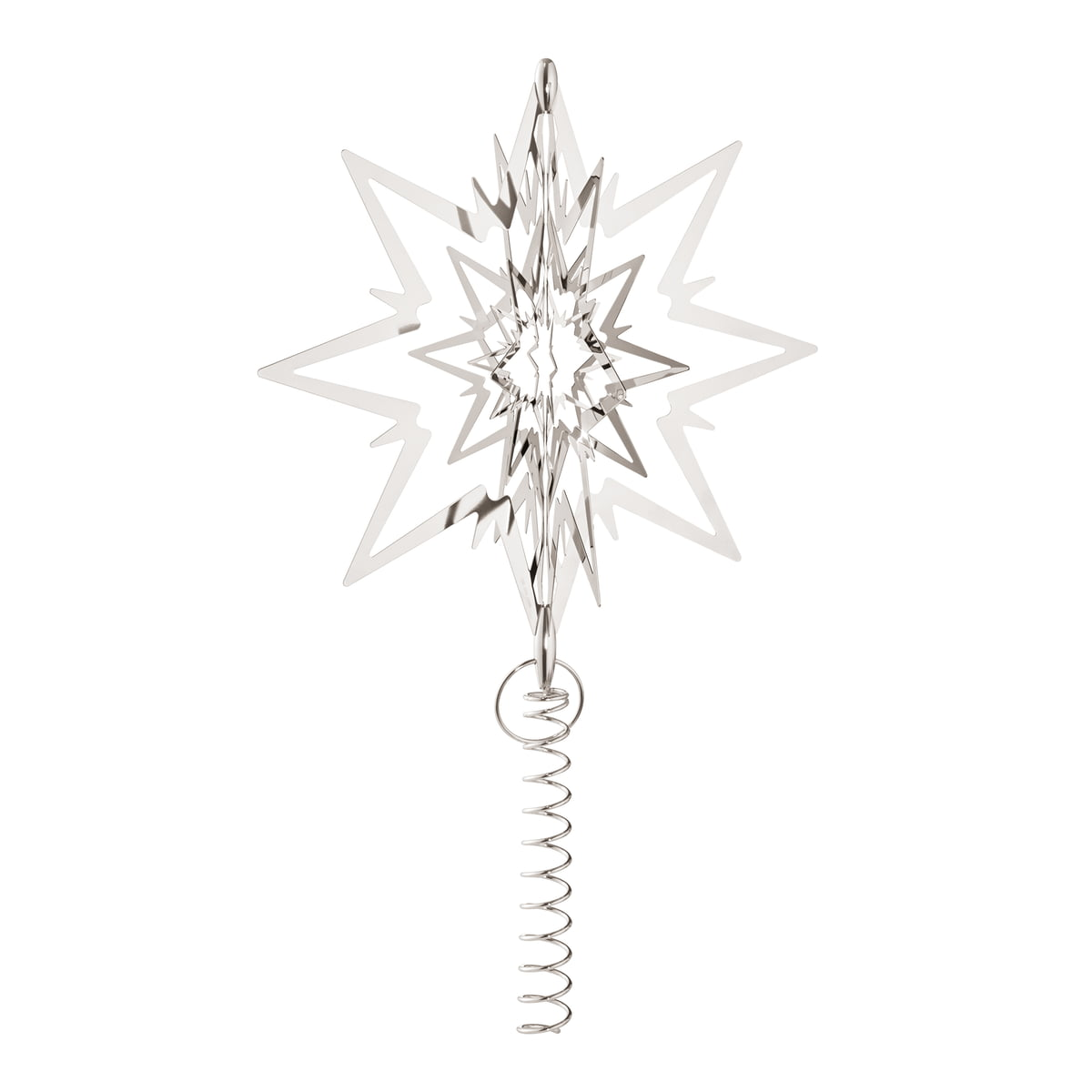 the georg jensen large christmas tree topper star in white gold - Star Christmas Tree Topper