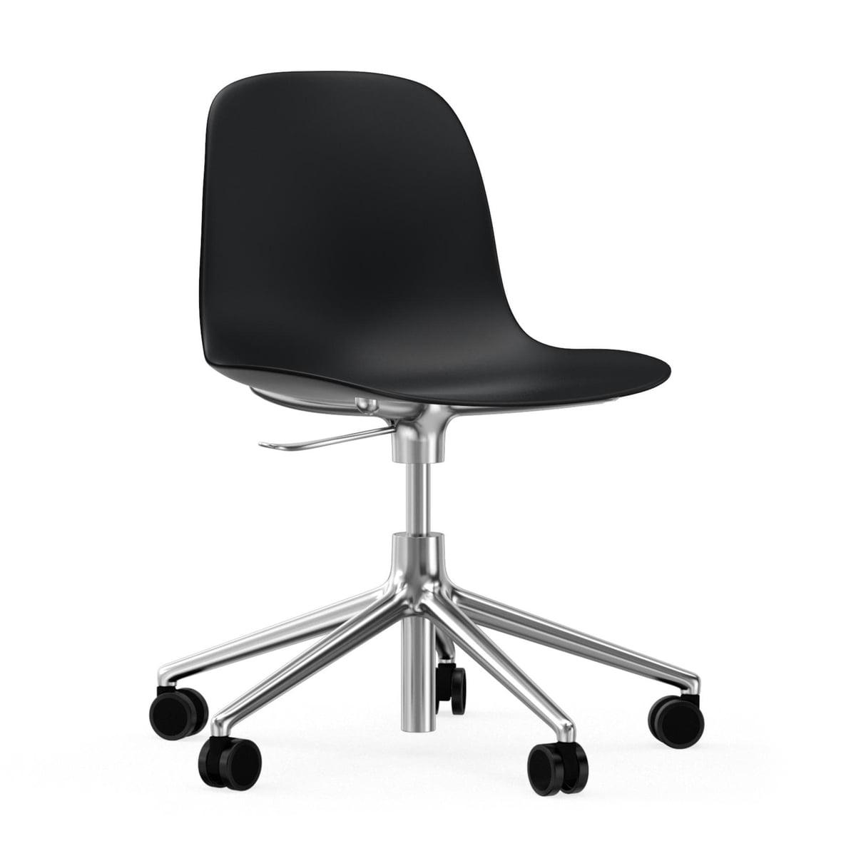 Form Swivel Office Chair by Normann Copenhagen in Black / Aluminium  sc 1 st  Connox & Buy the Form Swivel Office Chair by Normann Copenhagen | Connox