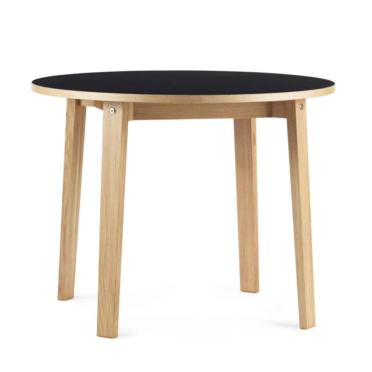 Gut The Slice Table Ø 95 X 74 Cm By Normann Copenhagen In Black