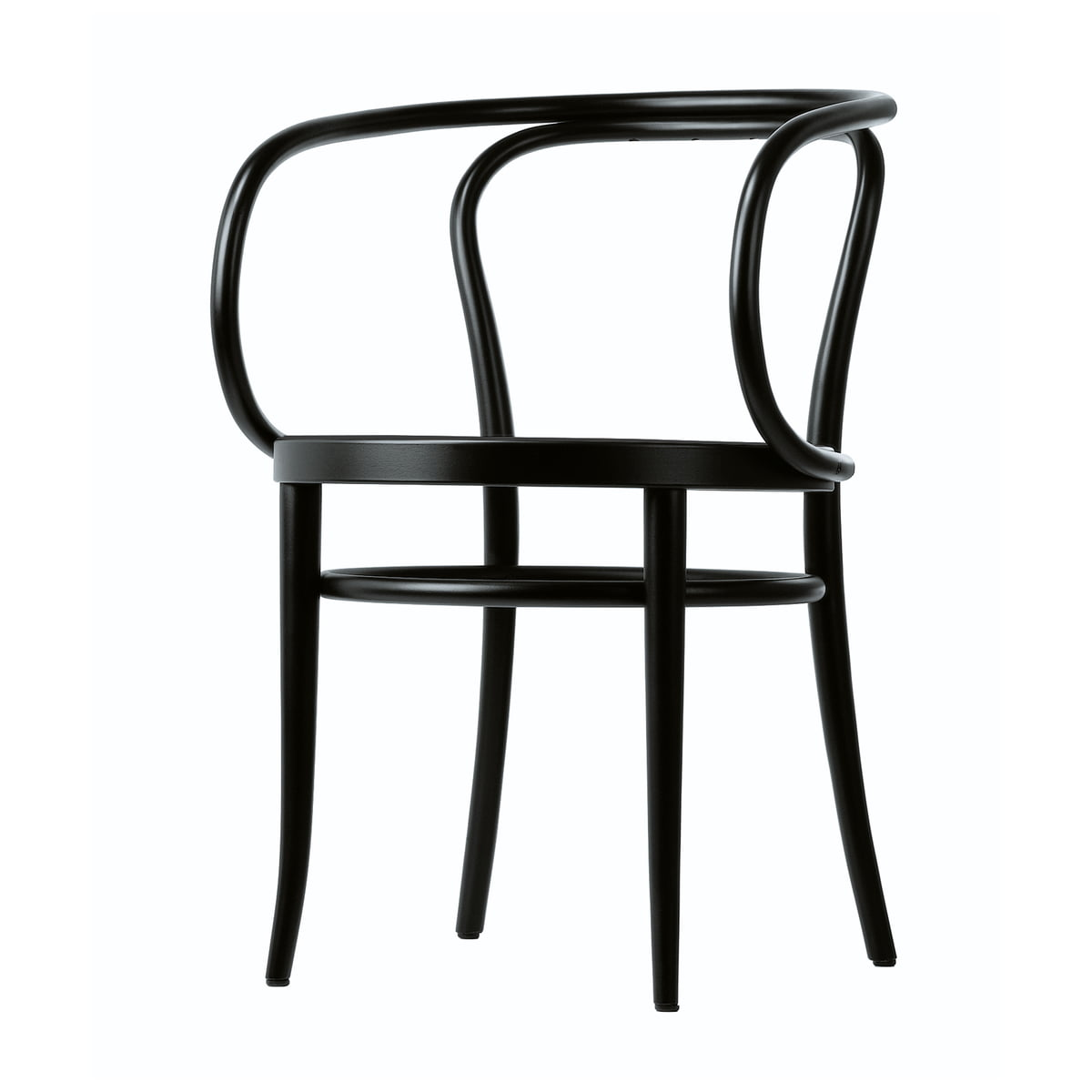 Attrayant 209 Bentwood Chair By Thonet Made From Black Stained Beech (TP 29) With Cane
