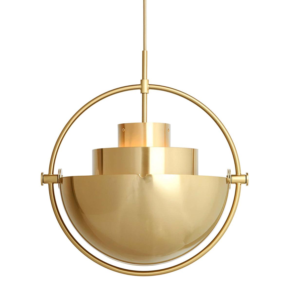 Multi Lite Pendant Light Ø 36 Cm By Gubi In Brass