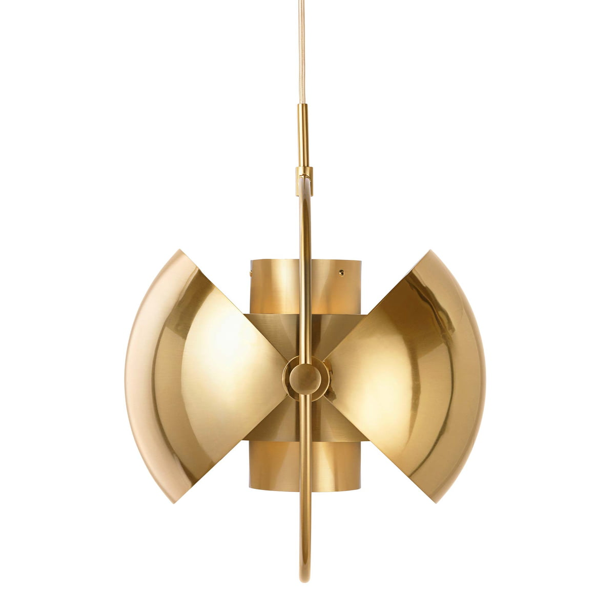 Multi Lite Pendant Light Ø 36 Cm By Gubi In Brass