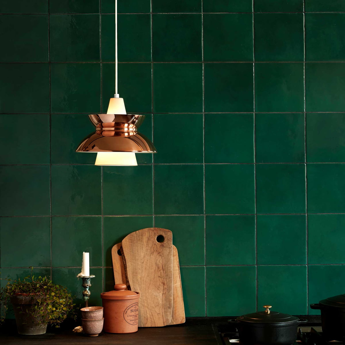 Buy the doowop pendant lamp by louis poulsen for Kupfer küche