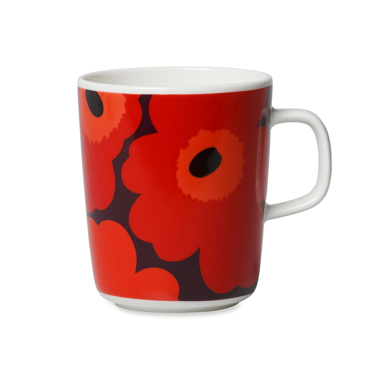 oiva unikko cup with handle from marimekko. Black Bedroom Furniture Sets. Home Design Ideas