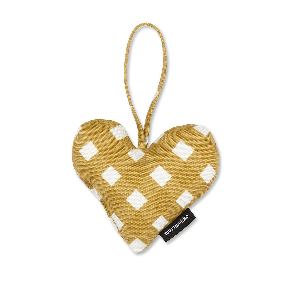 christmas heart ornaments by marimekko