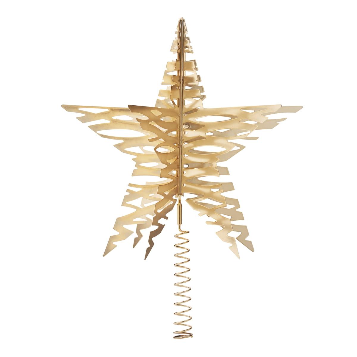 Stelton Tangle Christmas Tree Star Brass