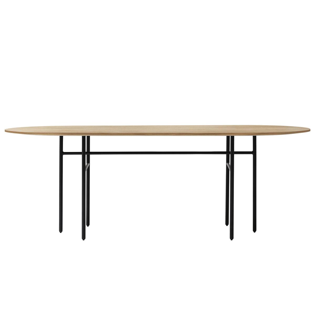 Menu   Snaregade Table, Oval, Black / Oak