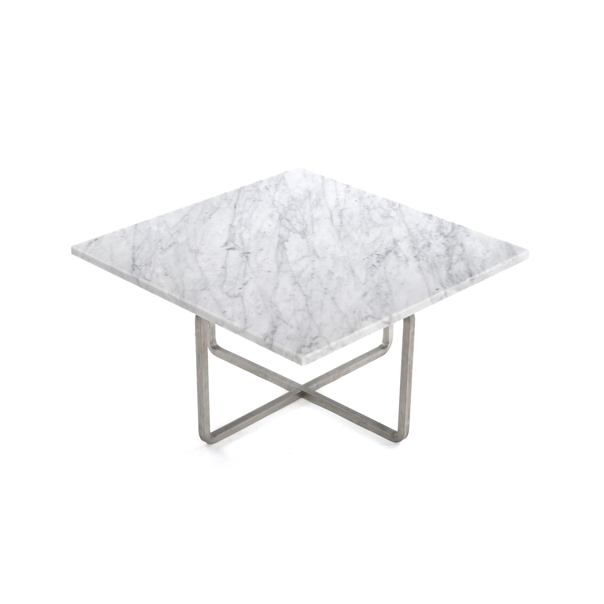 White Marble Coffee Table.Ox Denmarq Ninety Coffee Table 60 X 60 Cm Stainless Steel White Marble