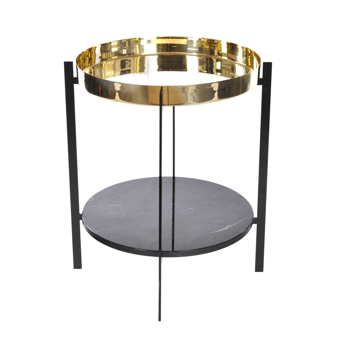 Charmant Deck Side Table By Ox Denmarq In Black Marble / Brass