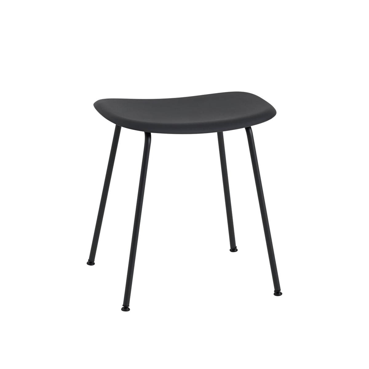 fiber stool metal base by muuto connox. Black Bedroom Furniture Sets. Home Design Ideas