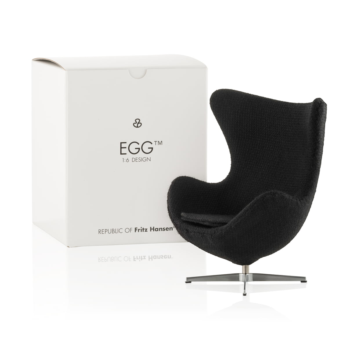 The Egg Chair.Fritz Hansen Miniature Egg Seat Red
