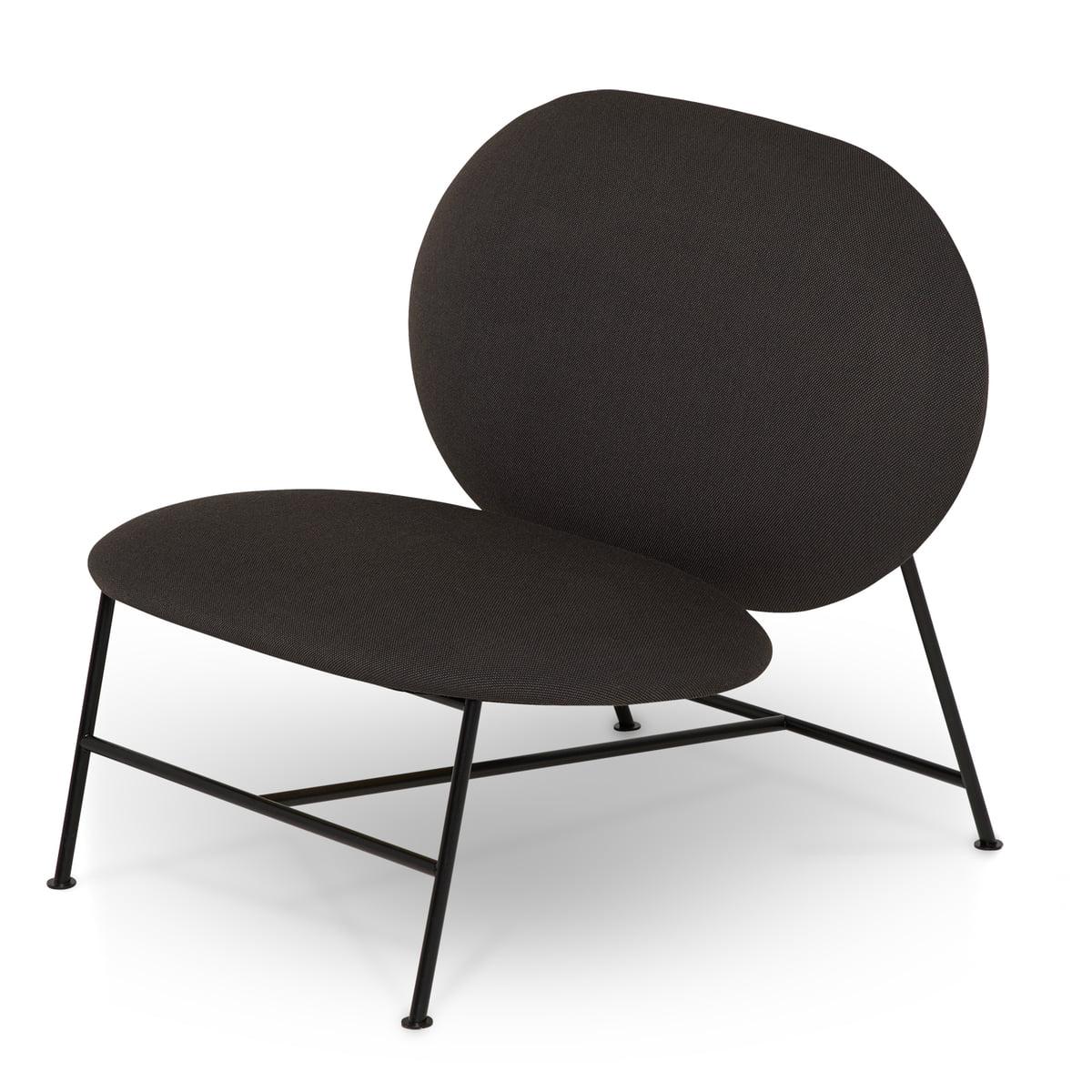 Northern   Oblong Lounge Chair, Black / Dark Grey (Brusvik 08)