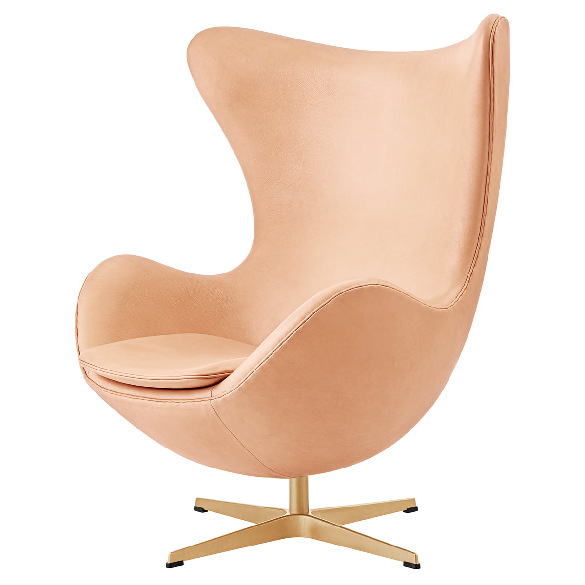 Fritz Hansen   Egg Chair, Pure Leather / Gold (60 Year Limited Edition)