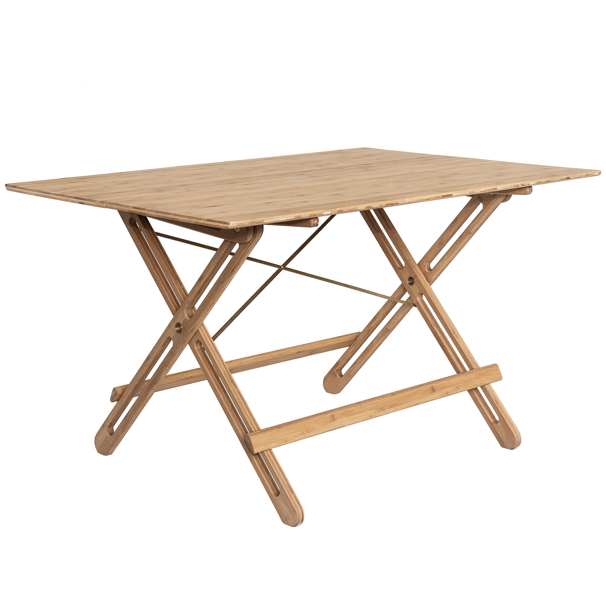 We Do Wood   Field Folding Table, Bamboo