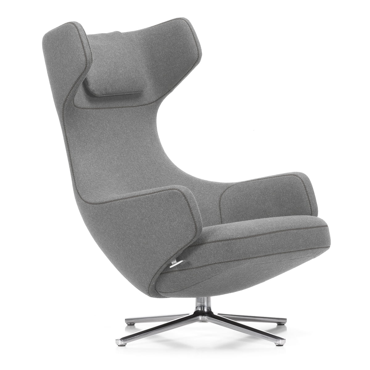Vitra   Grand Repos Armchair H 41 Cm, Light Gray (01 Pebble) /