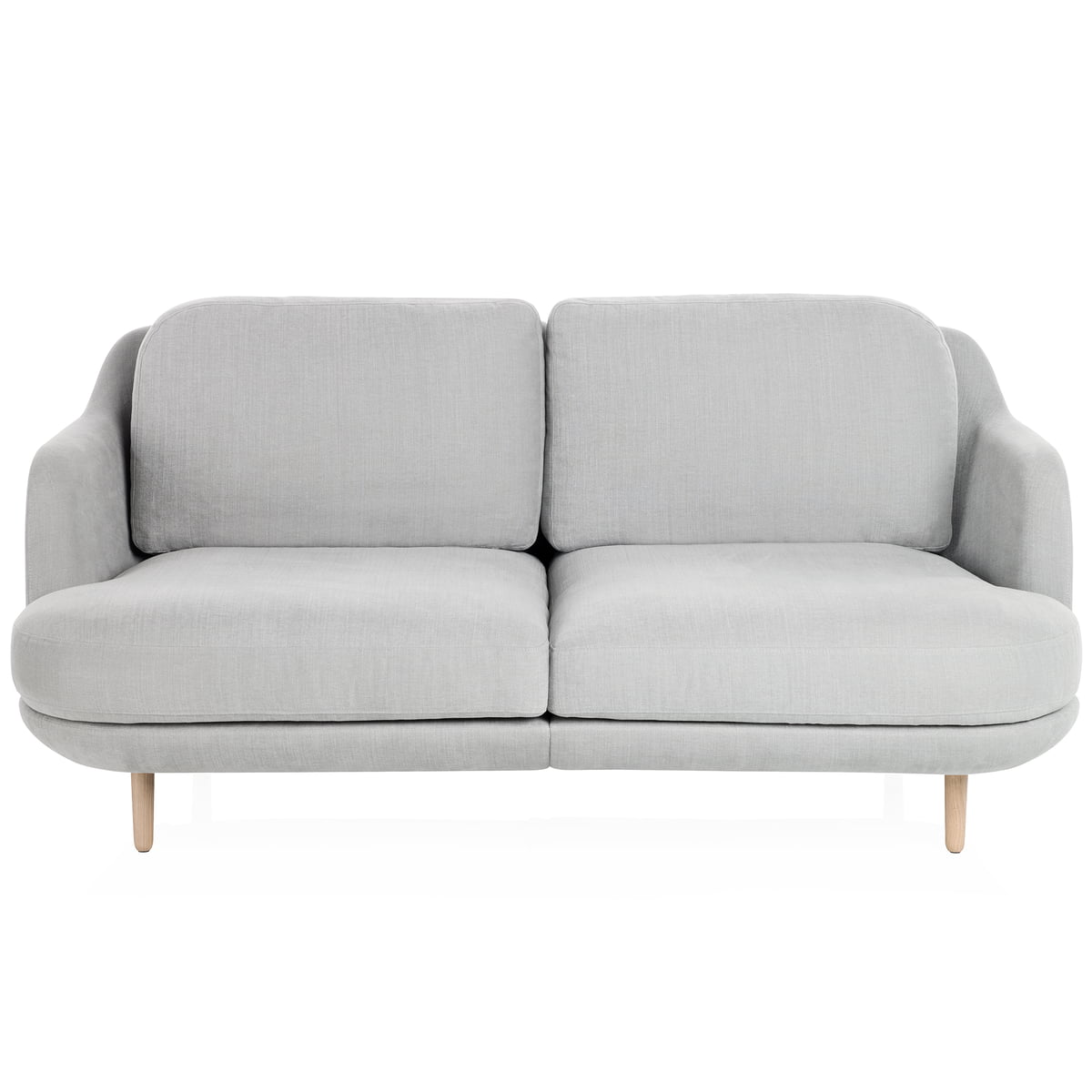 Lune Sofa With Wooden Legs By Fritz Hansen In Grey