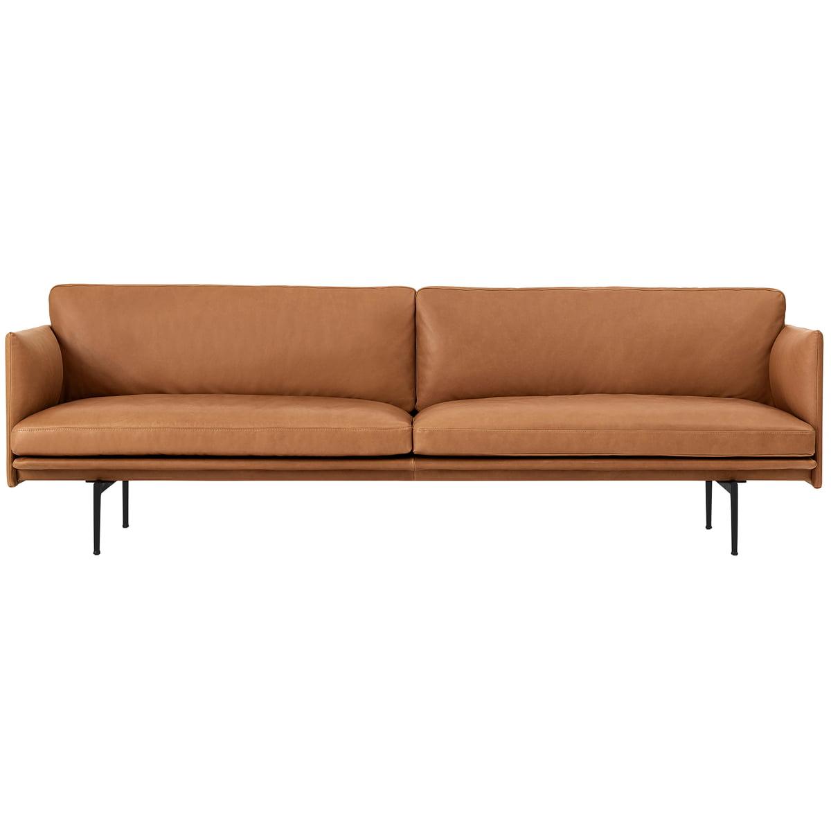 Gewaltig 3 Er Sofa Sammlung Von Muuto - Outline 3-seater, Cognac Silk Leather